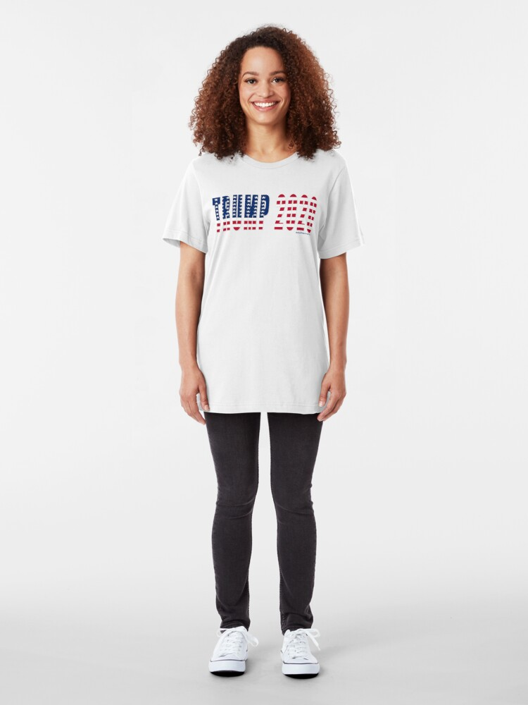 Alternate view of Trump 2020 Flag Slim Fit T-Shirt