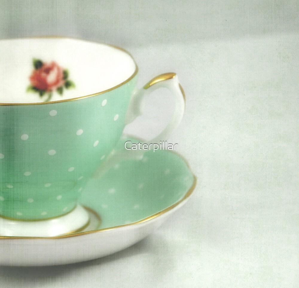 Apple green teacup by Caterpillar