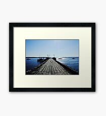 Jordan pier Framed Print