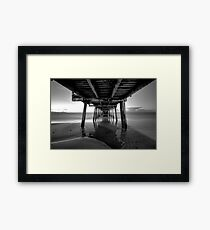 Henley beach jetty, Adelaide South Australia Framed Print
