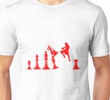 Kickboxing Chess Jumping Knee Red  Unisex T-Shirt