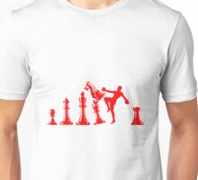 Kickboxing Chess Knee Red Unisex T-Shirt