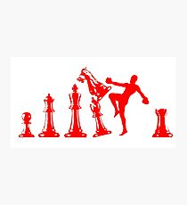 Kickboxing Chess Knee Red Photographic Print