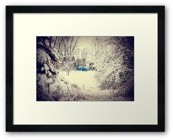 Blue Camper by Elizabeth Pellette