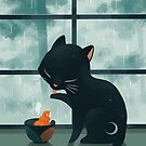 Cat and the rain by freeminds