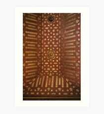 Gilded Inlaid Ceiling Art Print