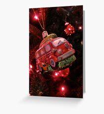 VW Bus Christmas Ornament Greeting Card
