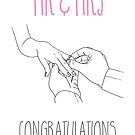 Mr & Mrs Newly Weds Congratulations by Adam Regester