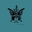 Vet Med After Hours You Matter Butterfly Tote Bag by vetmedafter