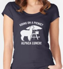 Going On A Picnic? Women's Fitted Scoop T-Shirt