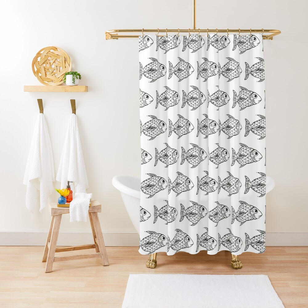 A Fish Named Cicio Shower Curtain