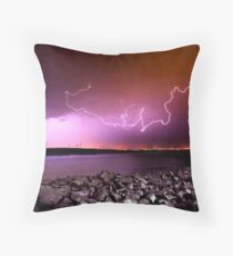 Lightning Strikes Throw Pillow