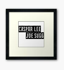 Joe Sugg, Caspar Lee / ThatcherJoe, Dicasp Framed Print