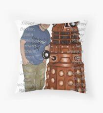 Dalek DOODLE Day! - The10GrandCharityChallenge Throw Pillow