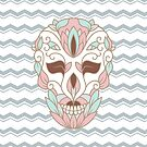 SKULL IN PASTELS by magicdreams