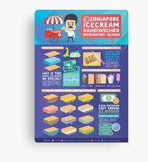Singapore icecream sandwiches infographic design Canvas Print