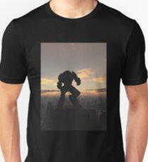 Future City - Robot Sentinel at Sunset Unisex T-Shirt