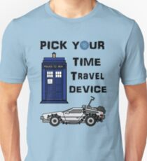 Pick your Time Travel Device! T-Shirt