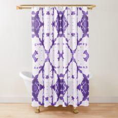 Purple X Cloth Shibori Shower Curtain