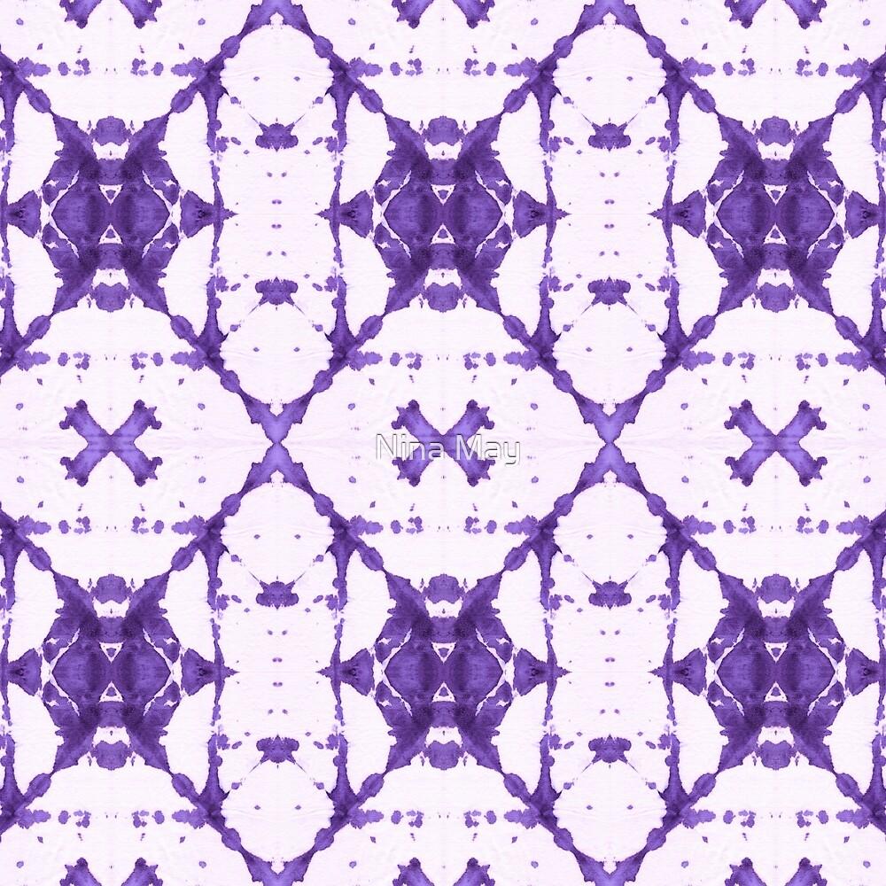 Purple X Cloth Shibori by Nina May