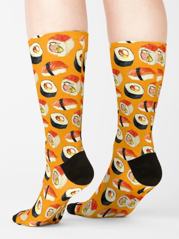 Alternate view of Sushi Pattern - Orange Socks