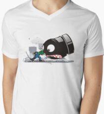 LUIGI: IMMER VERÄRGERT T-Shirt mit V-Ausschnitt