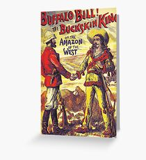 Vintage Buffalo Bill poster Greeting Card