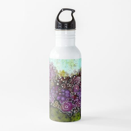 Abstract Cactus - Original Alcohol Ink Water Bottle