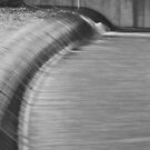Spillway in Black and White by Lozzar Landscape