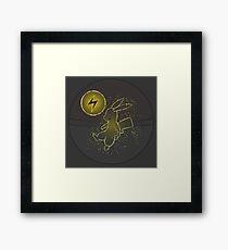Pokéball Line Art Pikachu Framed Print