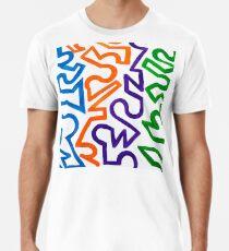 Continuous line columns  Premium T-Shirt