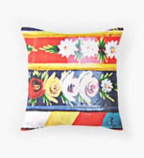 Barge Roses Throw Pillow