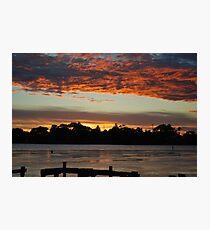 Budgewoi lake,,9-11-2010.Sunrise.. Photographic Print