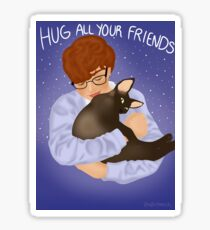 Cavetown and Fig Hug All Your Friends Sticker
