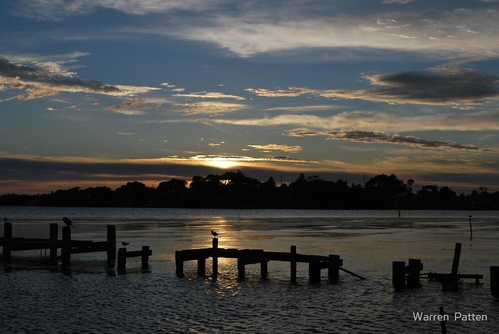 Budgewoi lake,,9-11-2010.Sunrise.No2. by Warren  Patten