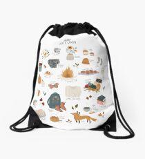 Hello Autumn Drawstring Bag