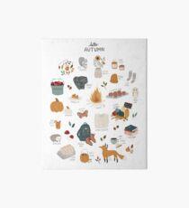Hello Autumn Art Board Print