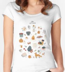Hello Autumn Fitted Scoop T-Shirt