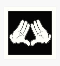 Illuminati Mickey Art Print