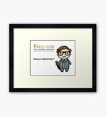 Manners Maketh Man - Harry Hart Framed Print