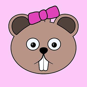 Cartoon Girl Beaver Face by mdkgraphics