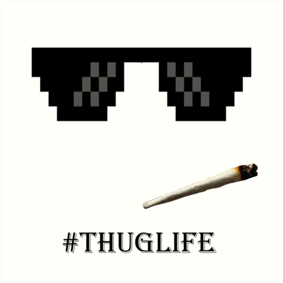 add thug life glasses to picture