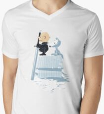 WINTER PEANUTS Men's V-Neck T-Shirt