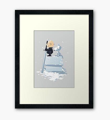 WINTER PEANUTS Framed Print