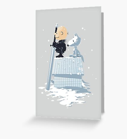 WINTER PEANUTS Greeting Card