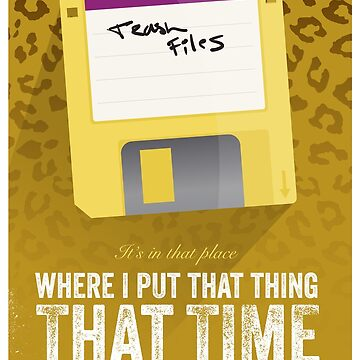 Hackers Movie - Floppy Disk - Cinema Obscura Collection by gbloomdesign