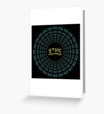 Stoic Calmness - Find Your Calm - Resist Anger Greeting Card