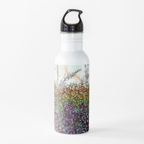 I Dream Flowers - Original Alcohol Ink Water Bottle