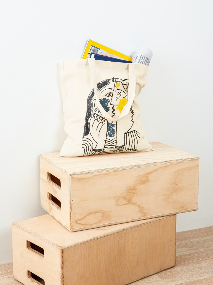 Alternate view of Pablo Picasso The Kiss 1979 Artwork Reproduction For T Shirt, Framed Prints Tote Bag