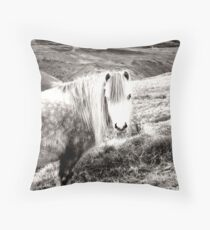 Mountain Pony Throw Pillow